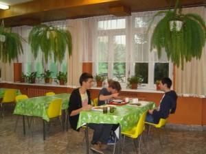 Smaczny obiad w stołówce